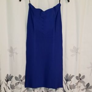 Royal Blue strapless bandage dress